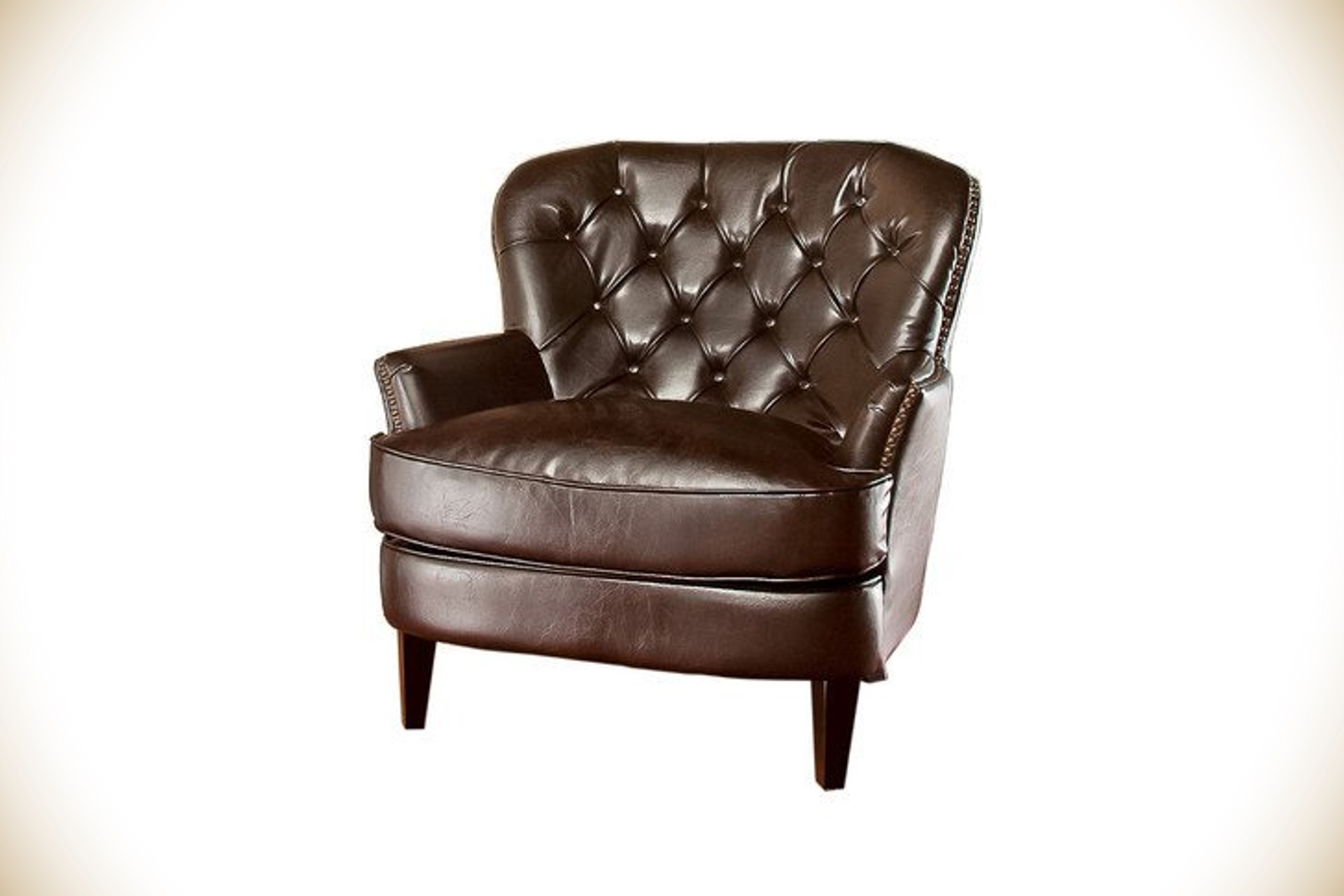 Abbyson tufted accent chair bourbon culture Tufted accent chair